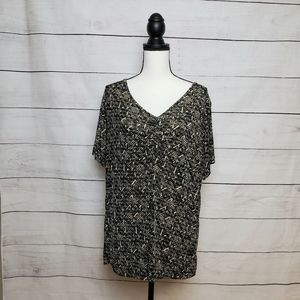 Jaclyn Smith Patterned Blouse